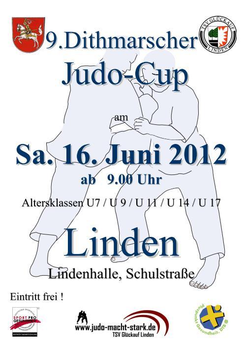 Plakat des Dithmarscher Judo-Cup 2012