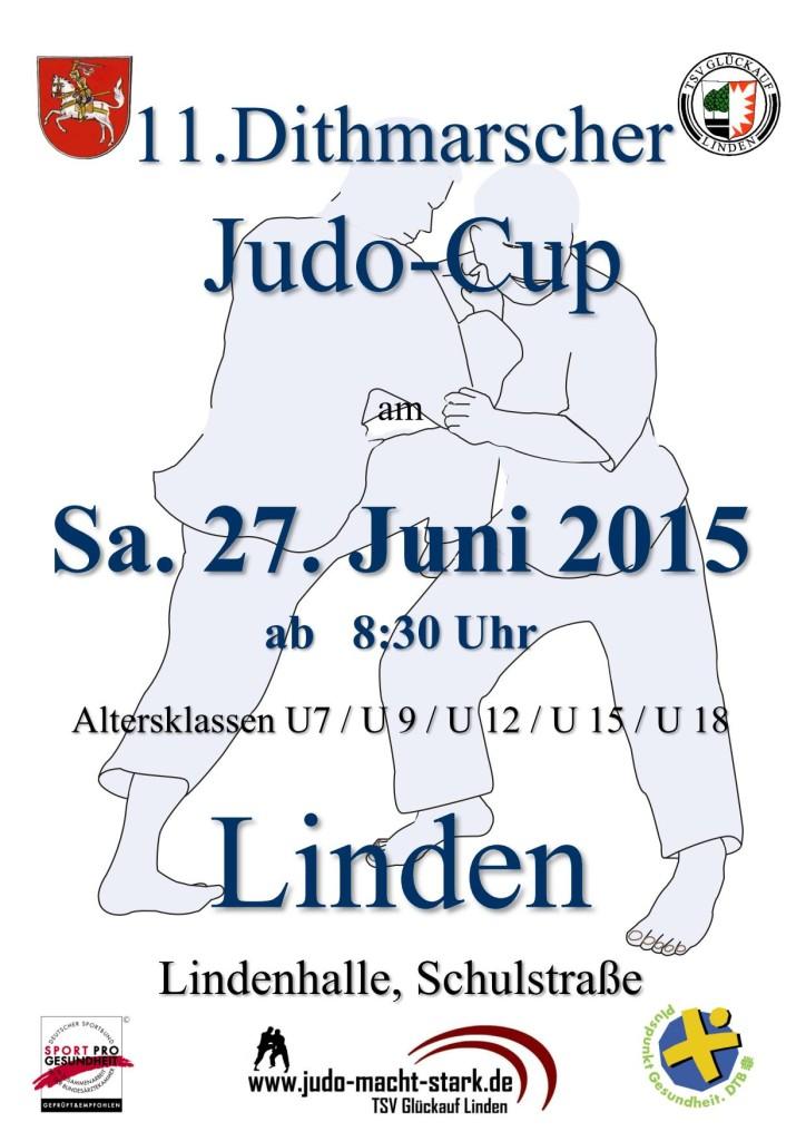 Plakat Dithmarscher Judo-Cup 2015