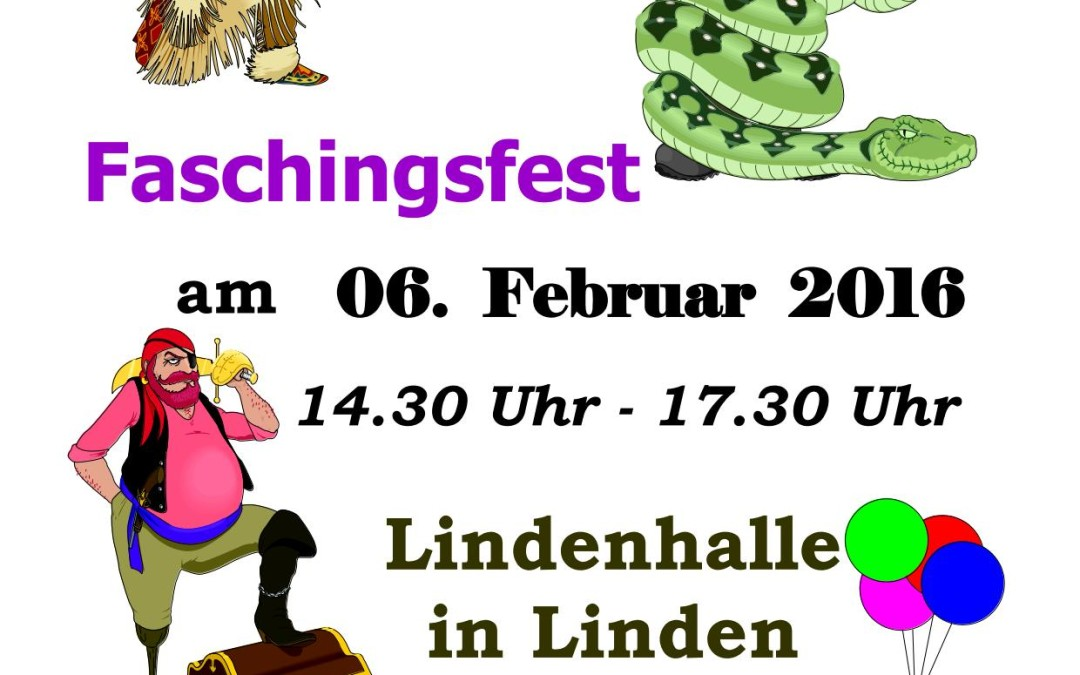 Get the party started – Kinderfasching am 06.02.2016