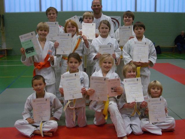 Judo-Gürtelprüfung am 01.12.2013