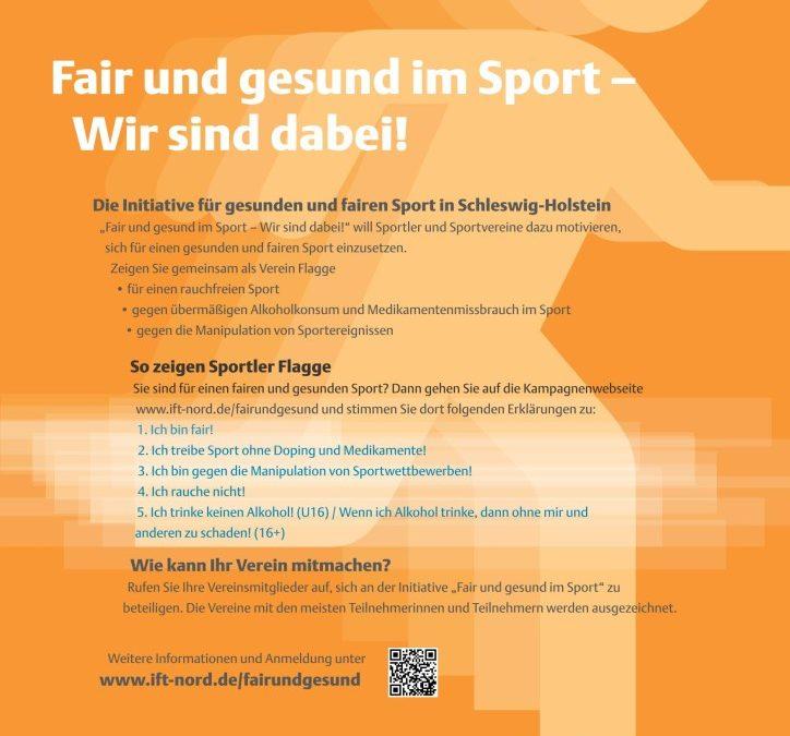 Fair und gesund im Sport – Wir sind dabei!