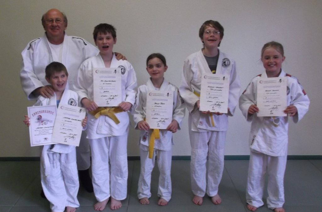 Judo-Gürtelprüfung beim TSV-Linden