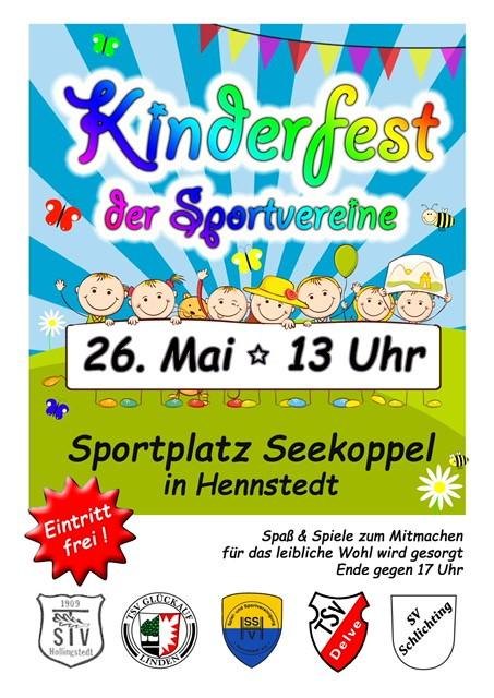 Kinderfest der Sportvereine am 26. Mai 2018