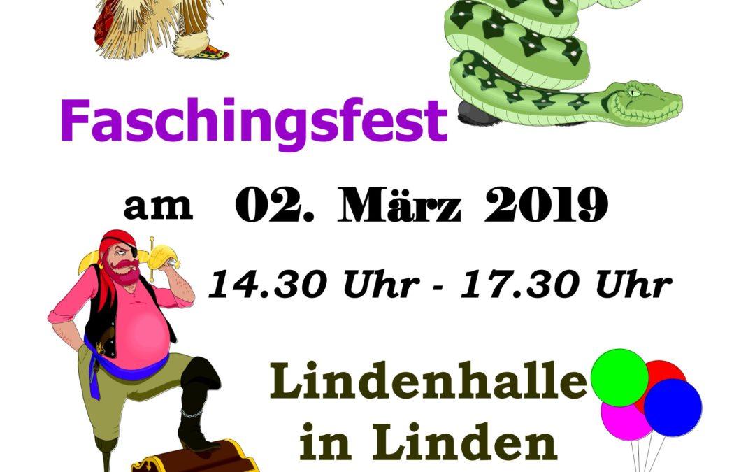 Wir sehen uns heute um 14:30 Uhr beim Faschingsfest in Linden