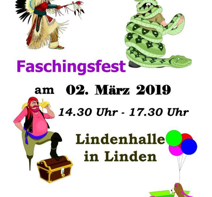 Einladung zum Faschingsfest 2019