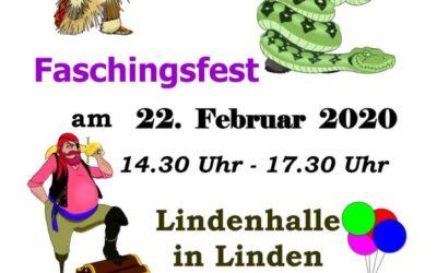 Faschingsfest des TSV Glückauf Linden am 22.02.2020
